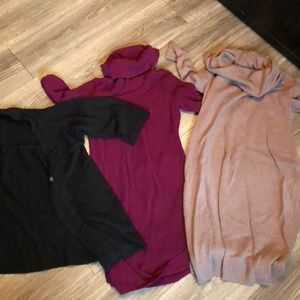Bundle of maternity sweaters size medium